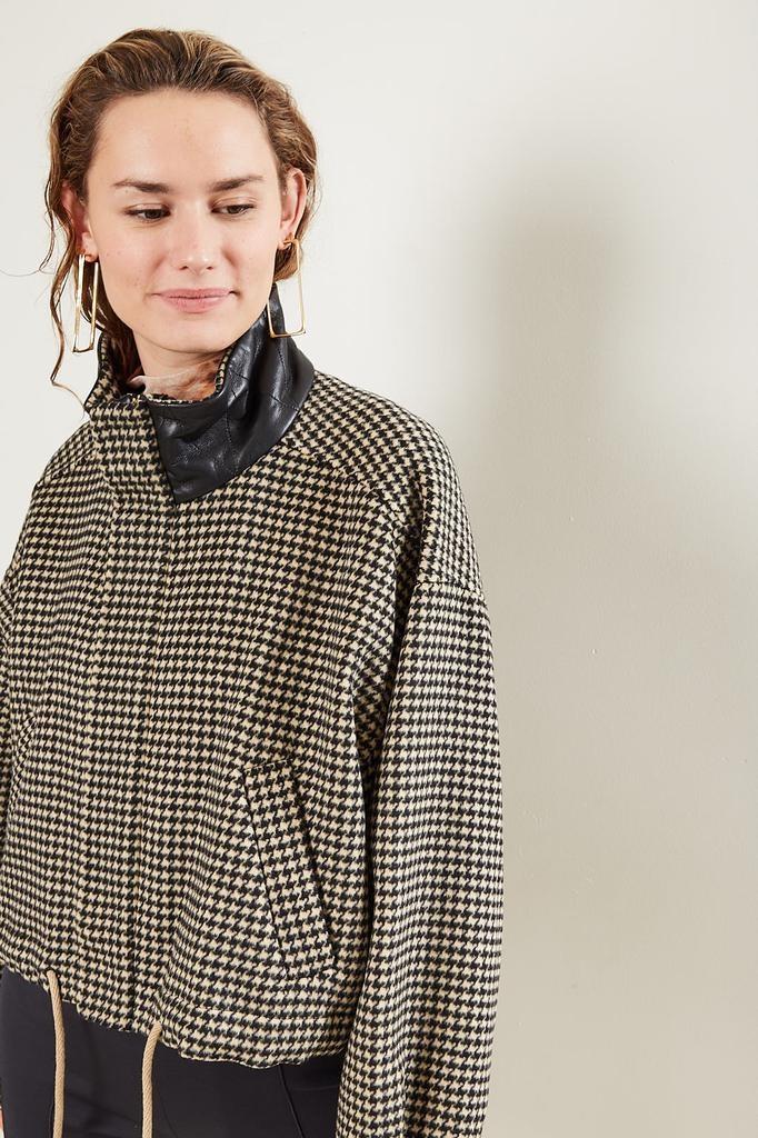 Nanushka - Logan Double Silk Wool Blend Coat