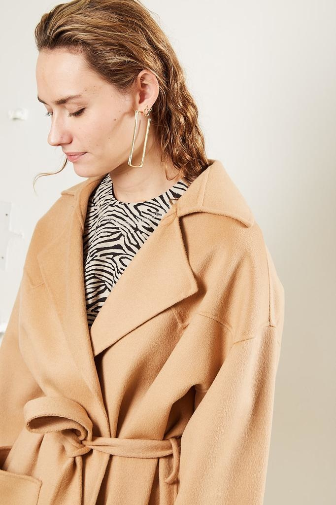 Nanushka - Alamo Double Silk Wool Blend coat