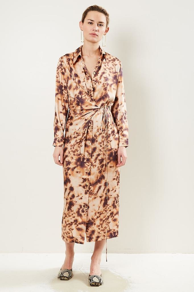 Nanushka Bisso Faux Silk dress