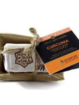 Karawan Authentic Ayurveda Seife Klein Kurkuma / Orange & Nelke, reinigend