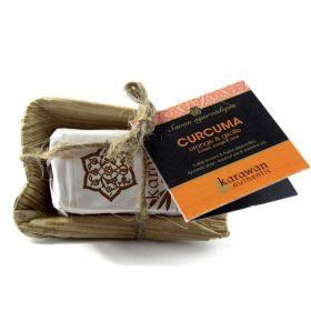 Karawan Authentic Ayurveda Seife Klein Kurkuma / Orange & Nelke, reinigend