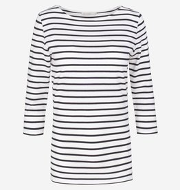 armedangels Armedangels, Darja Stripes, off white/black, L