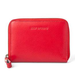 Lost & Found Accessories Lost & found, kleines Reissverschlussportemonnaie, tangerine red