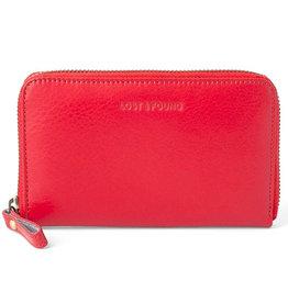 Lost & Found Accessories Lost & Found, Mittleres Reissverschluss Portemonnaie, tangerine red
