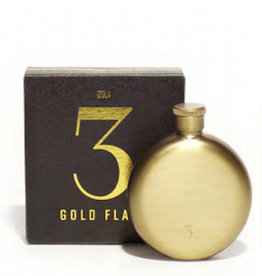 Men's Society Men's Society, Hip Flask, gold, 3oz