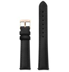 Cluse Cluse, Minuit Strap (16mm), black/rose gold