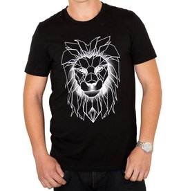 Longfieldstreet, Lion T-Shirt, allblack, L
