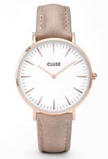 Cluse Cluse, Boho Chic Leather, rosegold white/hazelnut