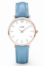 Cluse Cluse, Minuit, rosegold white/retro blue