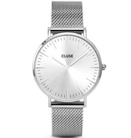 Cluse Cluse,Boho Chic, Mesh, full silver