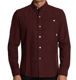 SLVDR SLVDR, Variance Shirt, speckled burgundy, XL