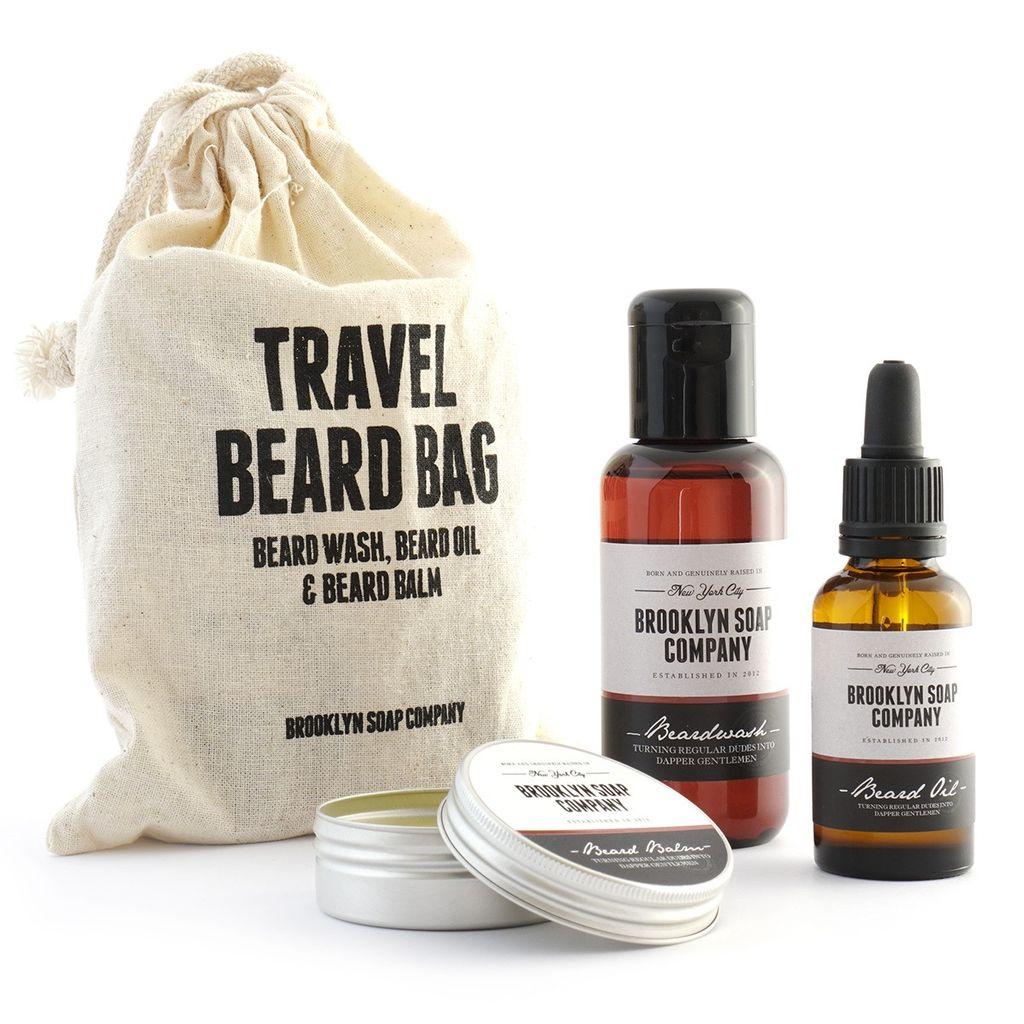 BKLYNSOAP Brooklyn Soap, Travel Beard Bag