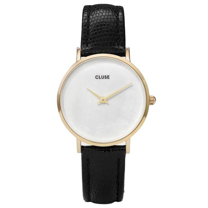 Cluse Cluse, Minuit la Perle, gold white pearl/black lizard