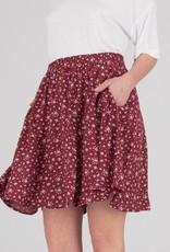 Dr.Denim Dr.Denim, Gena Skirt, red floral, S
