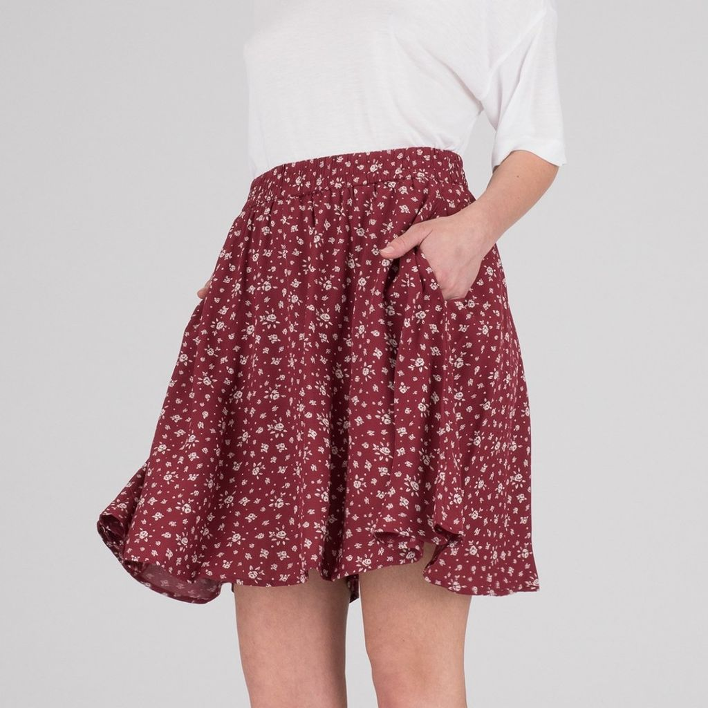 Dr.Denim Dr.Denim, Gena Skirt, red floral, L