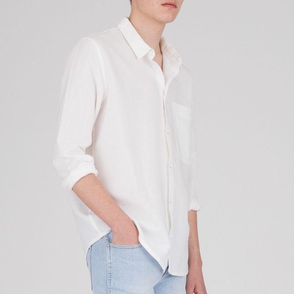 Dr.Denim Dr.Denim, Fred Relaxed Shirt, off white, M