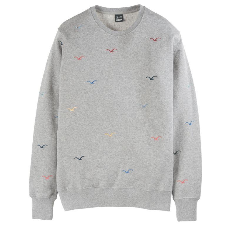 Cleptomanicx Cleptomanicx, Crewneck Seagull, gray, XL