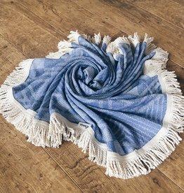 L'Anse, Towel, rund, hellblau/nature, 150cm