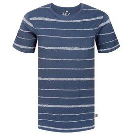 Bleed Bleed, Stripe T-Shirt, Rauchblau, S