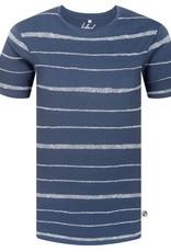 Bleed Bleed, Stripe T-Shirt, Rauchblau, XL