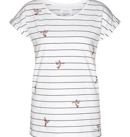 armedangels Armedangels, Liv Birds on Stripes, white, M