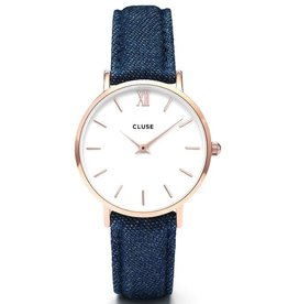 Cluse Cluse, Minuit, rose gold white/blue denim