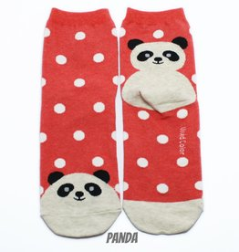 Cutie Socks Cutie Socks, Dots on the Toe Panda, red, Grösse 36-40