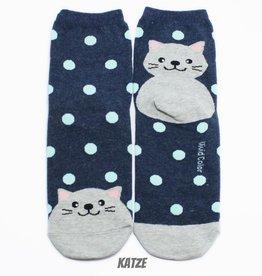 Cutie Socks Cutie Socks, Dots on the Toe Cat, navy, Grösse 36-40