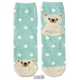 Cutie Socks Cutie Socks, Dots on the Toe Eisbär, green, Grösse 36-40