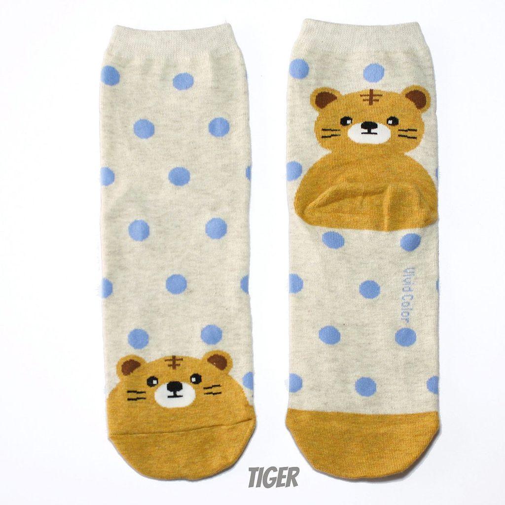 Cutie Socks Cutie Socks, Dots on the Toe Tiger, off white, Grösse 36-40