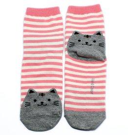 Cutie Socks Cutie Socks, Cat on the Toe, pink, Grösse 36-40