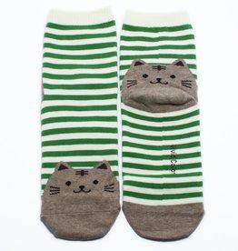 Cutie Socks Cutie Socks, Cat on the Toe, green, Grösse 36-40