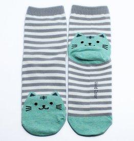 Cutie Socks Cutie Socks, Cat on the Toe, mint, Grösse 36-40