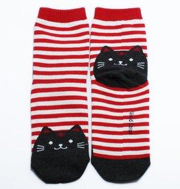 Cutie Socks Cutie Socks, Cat on the Toe, red, Grösse 36-40