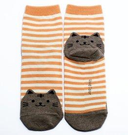 Cutie Socks Cutie Socks,Cat on the Toe, orange, Grösse 36-40