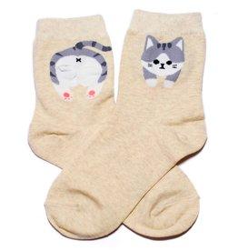 Cutie Socks Cutie Socks, Fudi Katze, beige, 36-40