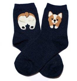 Cutie Socks Cutie Socks, Fudi Corgi, navy, 36-40