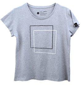 Ginga Ginga, Squares T-Shirt, grey, XS