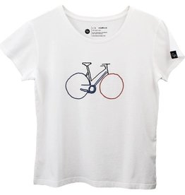 Ginga Ginga, Bike T-Shirt Damen, white, L