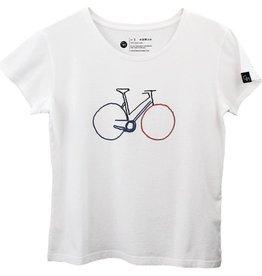 Ginga Ginga, Bike T-Shirt Damen, white, L