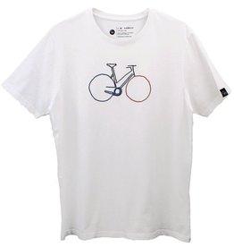 Ginga Ginga, Bike T-Shirt Herren, white, S