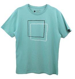 Ginga Ginga, Squares T-Shirt, green, XL