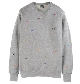 Cleptomanicx Cleptomanicx, Crewneck Seagull, gray, S