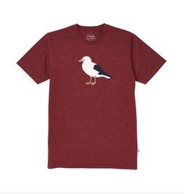 Cleptomanicx Cleptomanicx, Basic Tee Gull 3, heather merot red, M