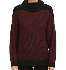Iriedaily Iriedaily, Block Turtle Knit, maroon mel., L