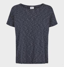 Klitmøller Klitmøller, Rikke T-Shirt, olive/cream stripes, L