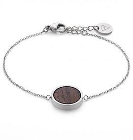 Kerbholz Kerbholz, Circle Bracelet, walnut/silver
