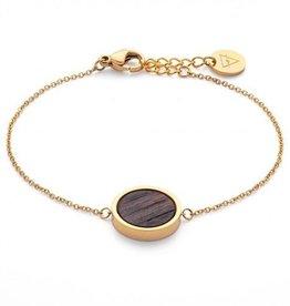 Kerbholz Kerbholz, Circle Bracelet, sandalwood/gold