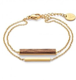 Kerbholz Kerbholz, Rectangle Bracelet, walnut/gold