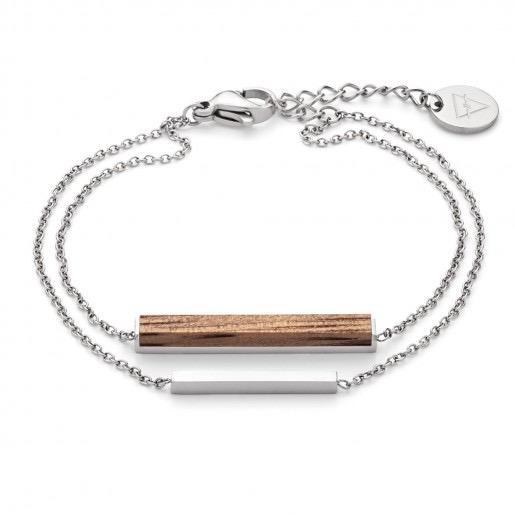 Kerbholz Kerbholz, Rectangle Bracelet, walnut/silver